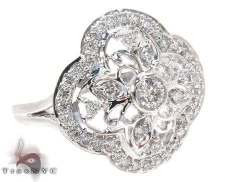 White Gold Round Cut Prong Bezel Diamond Ring Anniversary/Fashion