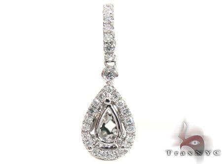 Petite Diamond Teardrop Semi Mount Pendant Style