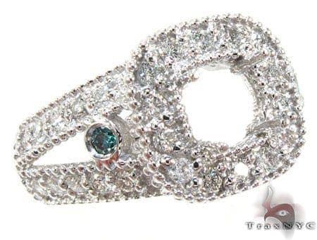White Gold Round Cut Prong Bezel Diamond Semi Mount Ring Engagement