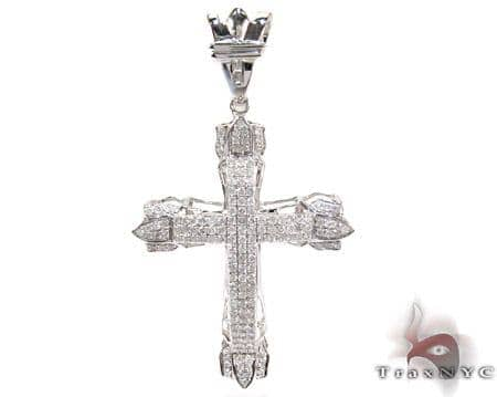 Pave Eternity Cross Crucifix Diamond