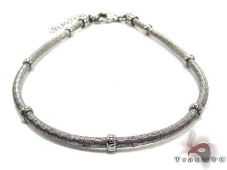 Black Silver Bracelet Silver & Stainless Steel
