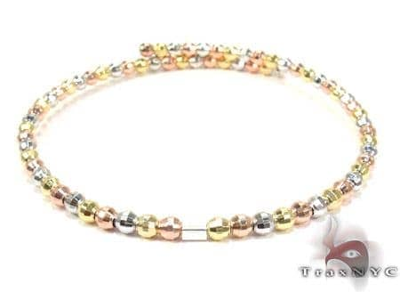 Three Tone Silver Bracelet Silver & Stainless Steel