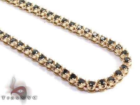 Black Diamond Chain 30 Inches 4mm 44.9 Grams Diamond