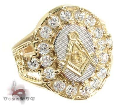 Yellow 10K Gold CZ Ring 25250 Metal