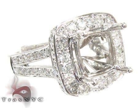18K Gold Diamond Semi Mount Ring 25590 Engagement