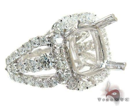 18K Gold Diamond Semi Mount Ring 25640 Engagement