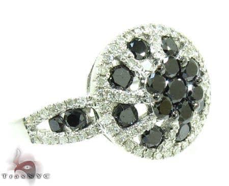Black Diamond Daisy Ring Anniversary/Fashion