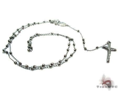Rosary Silver Chain 24 Inches, 2mm, 7.9 Grams Silver