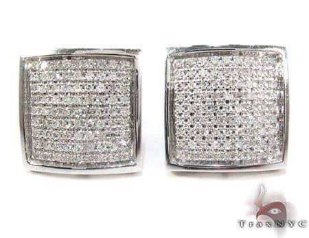 Square Diamond Earrings 26043 Stone