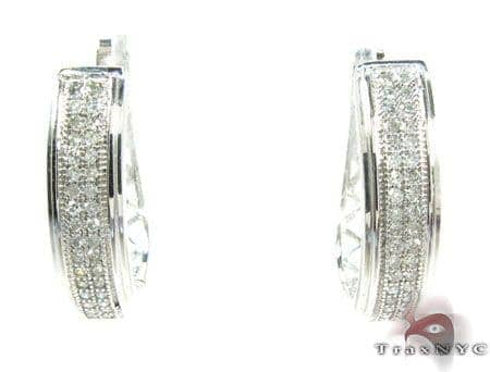 Micro-Pave 2 Row Diamond Earrings 26085 Style