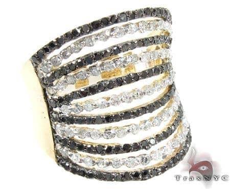 Black and White Queen Diamond Ring Anniversary/Fashion