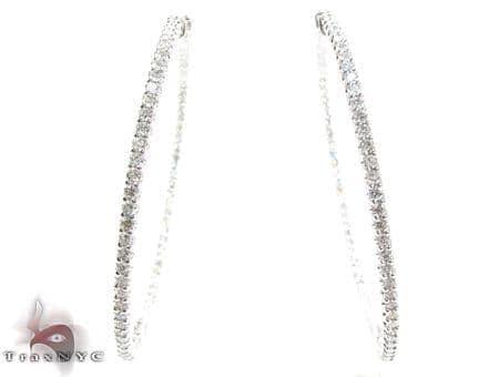 1 Row Diamond Hoop Earrings Style