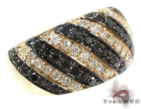 Black and White Stripe Diamond Ring Anniversary/Fashion