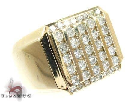 Round Cut Channel Diamond Medium Ring Stone