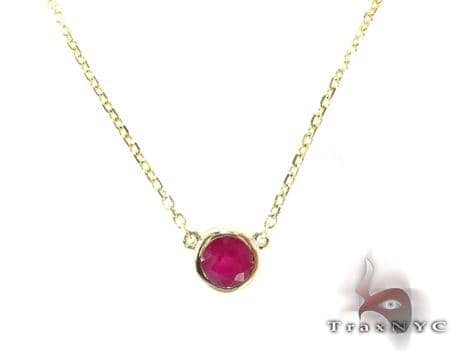Passion Yellow Gold Ruby Necklace Gemstone