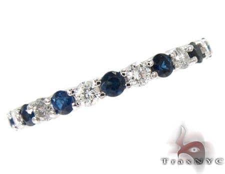 Blue Sapphire Diamond Ring Anniversary/Fashion