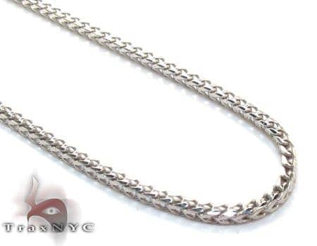 White Gold Thin Chain 18 Inches, 1mm, 5.5 Grams Gold