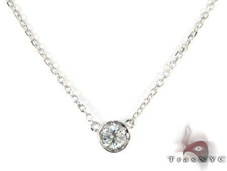 Bezel Diamond Necklace 27073 Diamond