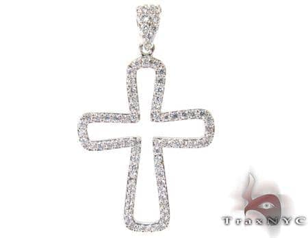 White Gold Diamond Cross Crucifix 27111 Style