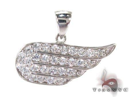 Angels Wing Diamond Pendant Stone