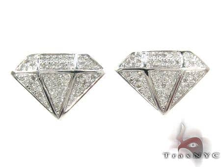 Gem Figure Diamond Earrings Metal