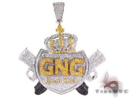 Custom Jewelry - GNG Kool Kat Pendant Metal