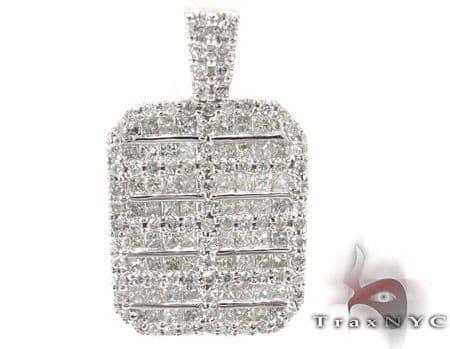 Prong Invisible Diamond Pendant Stone