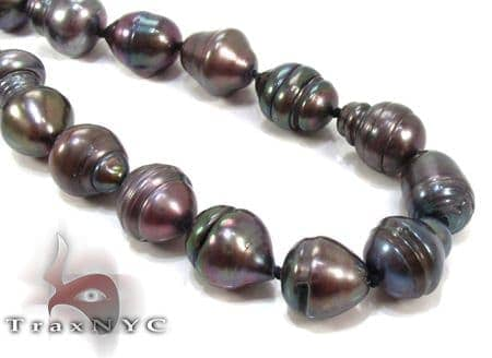 Black Pearl Silver Necklace 27612 Pearl