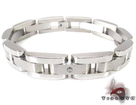 White Stainless Steel Bracelet 27746 Stainless Steel