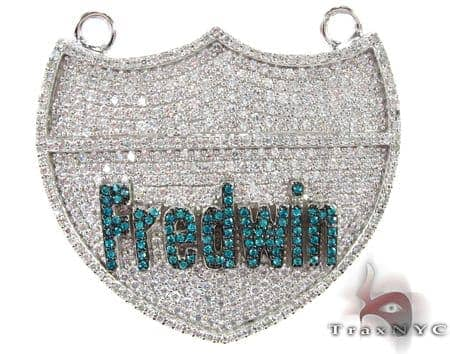 Frdwin Silver CZ Pendant Metal