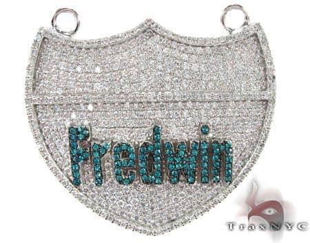 Frdwin Silver CZ Pendant 27787 Metal