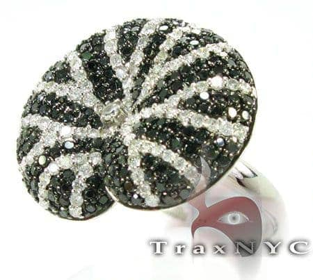 Black & White Diamond Twirl Ring Anniversary/Fashion