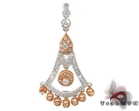 Chandelier Diamond Pendant 2 Stone