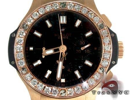 Hublot Classic Fusion Rose Gold Diamonds Watch 27910 Hublot
