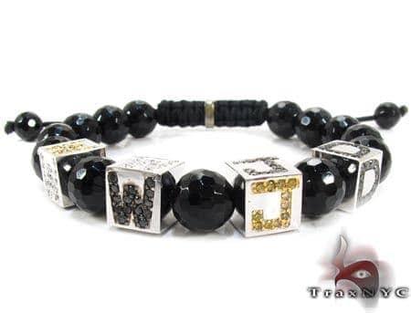WWJD (What would Jesus do) Diamond Bracelet Diamond