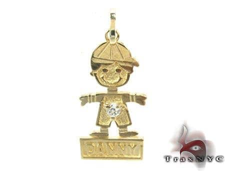 Little Boy Gold Pendant Metal