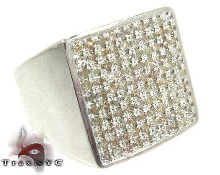 Mens Silver Prong Ring Metal