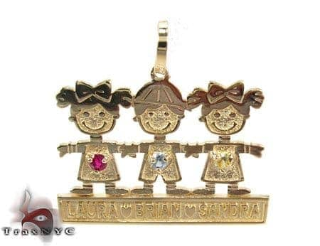 Little Kids Gold Pendant Metal