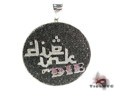 Custom Silver CZ Pendant Metal