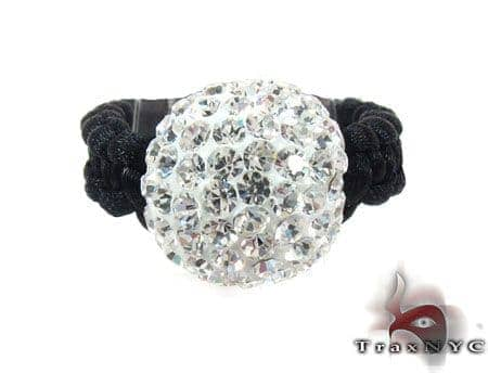 Rope White Crystal Ring Anniversary/Fashion