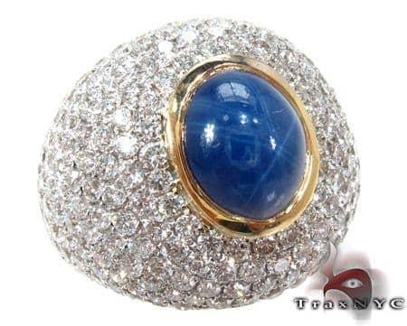 Star Sapphire Diamond Ring 2 Anniversary/Fashion