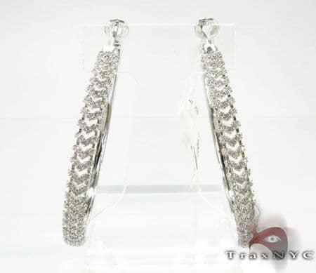 Diamond Hoop Earrings Style