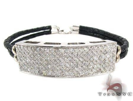 Full Diamond ID braided Bracelet 28461 Diamond