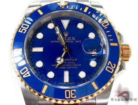 Rolex Submariner Gold and Steel 116613 blu 28691