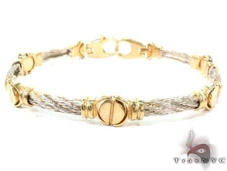 14K Yellow Gold Strain Bracelet Gold