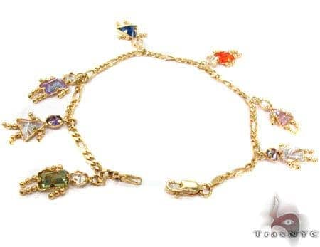 14K Yellow Gold Little Girls and Boys Bracelet Gold