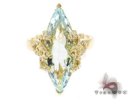 Custom Marquise cut Aquamarine Ring Anniversary/Fashion