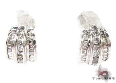 Channel Diamond Earrings  29044 Stone