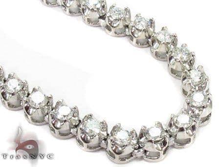 Prong Diamond Chain 30 Inches 5mm 72.7 Grams Diamond