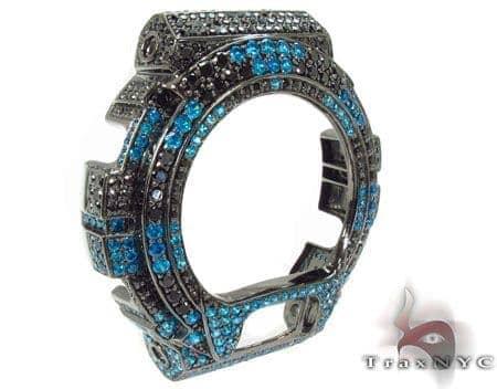 G-Shock Black and Blue Color CZ Case G-Shock
